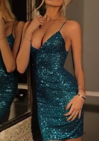Vestitino paillettes condole sexy blu