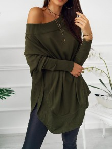 Green Double Slit Off Shoulder Bandeau Mini Dress