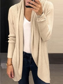 Apricot Irregular Long Sleeve Sweet Going out Office Worker/Daily Casual Cardigan