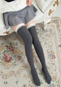 Calze da uomo di moda sottile in pizzo grigio scuro