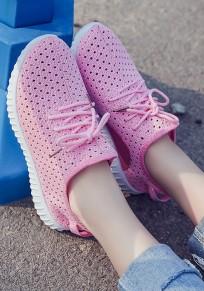 Scarpe girocollo pieghevoli A punta aperta casuale rosa