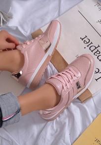Scarpe A punta piatte con stampa paillettes A forma di croce rosa