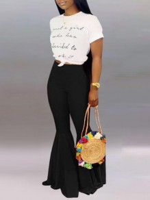 Black Draped High Waisted Extreme Flare Bell Bottom Vintage Long Pants