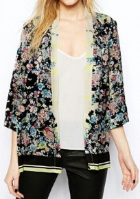Multicolor Floral Print Loose Blouse