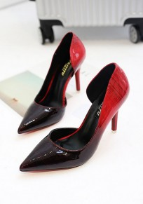 Red Point Toe Stiletto Fashion High-Heeled Shoes